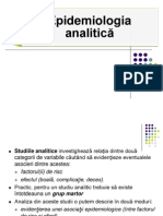 Curs 2 - Epidemiologie Analitica