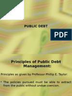 Principles of Public Debt Management