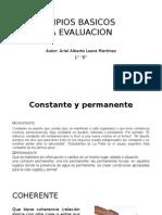 Principios Basicos de La Evaluacion