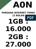 Perdana 3 Aon