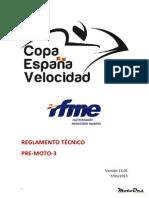 Copa España Velocidad 2013 Tecnico Pre Moto-3