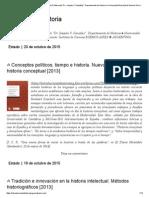 Teoría de la historia _ Instituto Superior del Profesorado _Dr. Joaquín V. González_. Departamento de Historia ● Universidad Nacional de General Sarmiento