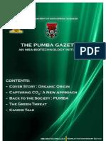 The PUMBA Gazette (Anniversary Edition)