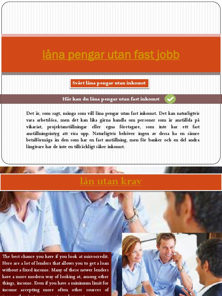 lån utan fast anställning