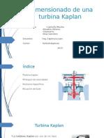 Dimensionado de Una Turbina Kaplan