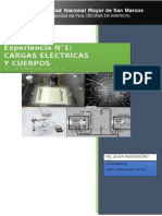 Cargas eléctricas y cuerpos electrizados B.