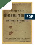 Gen.G.D.Mărdărescu-Campania Pentru Desrobirea Ardealului Şi Ocuparea Budapestei