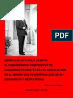 ADIÓS AUGUSTO POLO CAMPOS...
