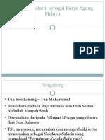 Sulalatus Salatin Sebagai Karya Agung Melayu