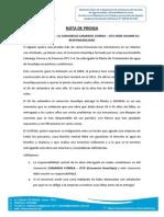 Nota de Prensa Huachipa