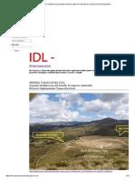 Proyectos Mineros Junto Al Río Grande en Cajamarca