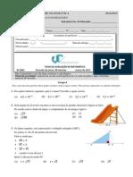 Teste 8o Ano - Teorema de Pitagora, Funcoes e Monomios