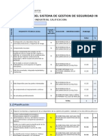 Planificacion Del Sistema de Gestion de Seguridad Industrial 2014