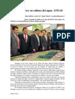 08.05.2014 Comunicado Durango Crece en Cultura Del Agua ANEAS