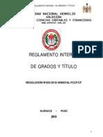 Reglamento Interno de Grados y Titulos Fccf