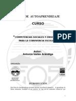 Guia de Auto aprendizaje Competencias Sociales y Emocionales Para La Convivencia Escolar