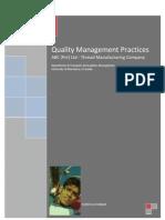 Quality Management Practices