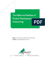 The Myths and Realities of Product Development and Outsourcing