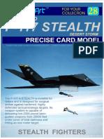 F 117 Stealth Model Art