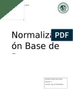 Normalización de Base de Datos