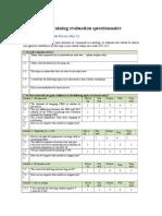 Post-training Evaluation Questionnaire
