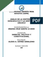 análisis de la sentencia 0256/2014