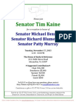 Reception for Patty Murray, Michael Bennet, Richard Blumenthal
