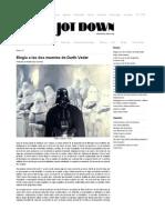 Elegía a las dos muertes de Darth Vader - Jot Down Cultural Magazine