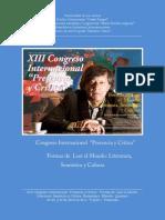 Convocatoria Congreso Internacional Presencia y Crítica 2015