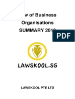 Business Organisations Law Summary Sample 2010 - Singapore