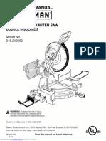 Craftsman Miter Saw Manual