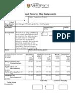 Blogs Feedback Form FM10340