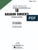 Vivaldi Schoenbach Bassoon Part Vol 1