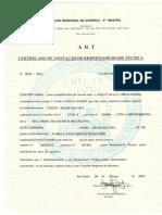 Certificado de Responsab. Técnica - Naira