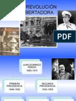 REVOLUCIÓN LIBERTADORA 1955 A 1958 CON LA VUELTA DE LA DEMOCRACIA