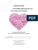 An Analysis of the Online Dating Industry and How Startups Can Compete