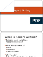 Report Writing - JNTU