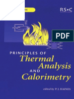 Principles of Thermal Analysis and Calorimetry