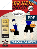 SuperHero TrainingLogSheets