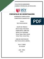 Informe Competencia Comunicativa TEST PSICOLOGICOS