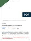 Mtc Comunica Vigencia de Ley 30216