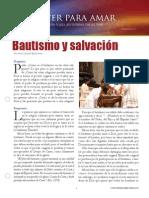 Bautismo y Salvacion