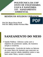 Aula 5 e 6 - Residuos Solidos Urbanos