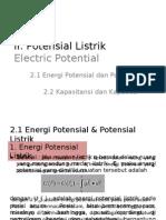 II Potensial Listrik