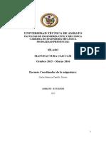 Silabo Manufactura Cadcam Formato 2015