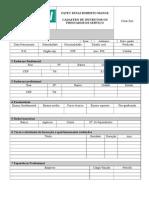 Cadastro de instrutor -  formul+írio