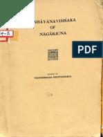 Mahayana Vimsaka of Nagarjuna - Vidhusekhara Bhattacharya