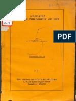 Mahavira and His Philosophy of Life - A.N. Upadhye