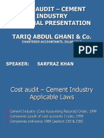 Cost audit presentation – Cement Industry
