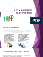 Selección y Evaluación de Proveedores